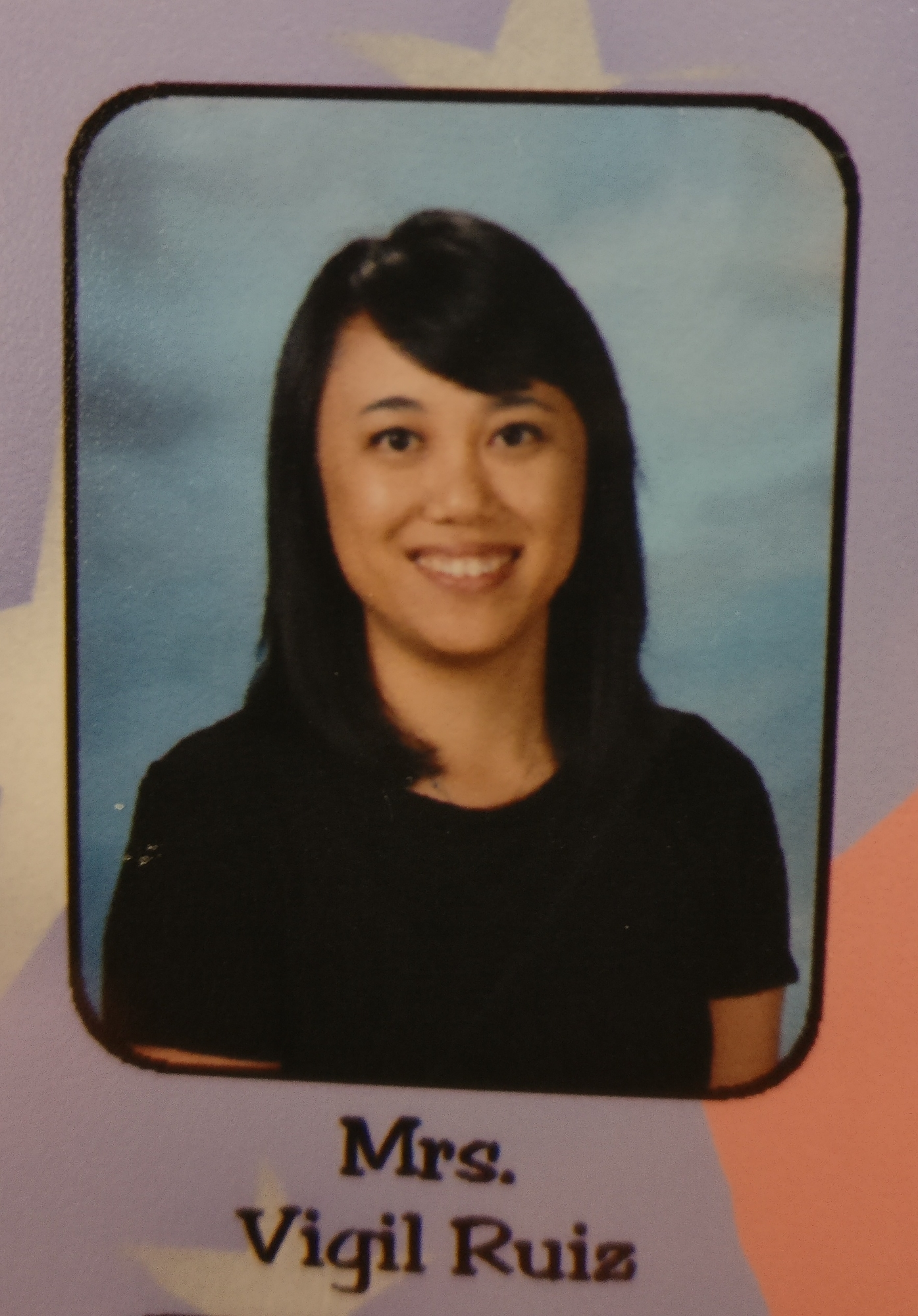 A school photo of Mrs. Vigil-Ruiz